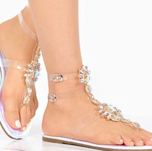 Shoes - VIGO FIORE GLADIATOR JEWELED SANDALS